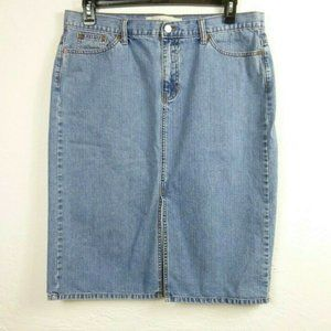 Gap Jeans Skirt size 16 Blue Denim Pencil Midi
